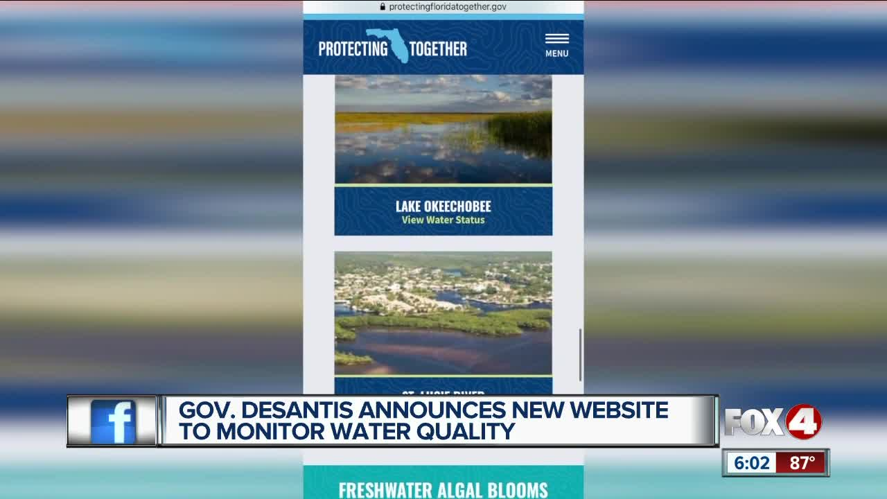 Governor DeSantis creates new water quality website