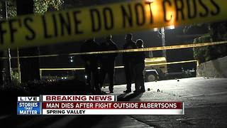 Fight near Spring Valley grocery store leaves man dead - Video