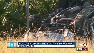 Rollover crash reported in Lehigh Acres Wednesday morning - Video