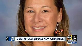 Missing teacher case now a homicide - Video