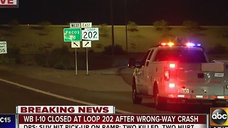 Yet another deadly wrong-way crash shuts down I-10 - Video