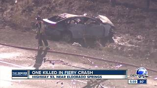 Deadly crash closes Highway 93 south of Eldorado Springs - Video