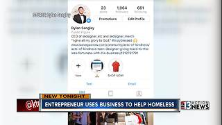 UNLV frehsman's business helps the homeless - Video