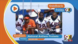 Feedback Friday: National anthem protests