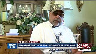 Neighbors upset with junk outside north Tulsa home - Video