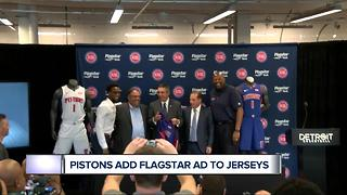 Pistons to feature Flagstar ad on jerseys - Video