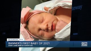 Family welcomes new baby seconds into 2021