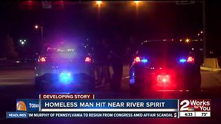 Vehicle hits homeless man near River Spirit Casino - Video