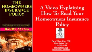 A Video Explaining How to Read and Understand Your Homeowners Policy