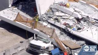 Bridge at Florida International University collapses, multiple people killed - Video