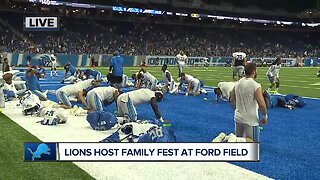 Detroit Lions hold training camp at Ford Field for family fun fest