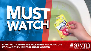 I Laughed In Plumber's Face When He Said To Use Kool-Aid. Then I Tried It And It Worked - Video