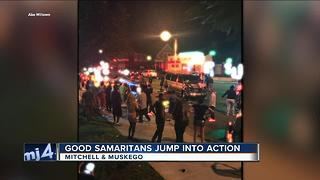Good Samaritans jump into action after crash on Milwaukee's south side - Video