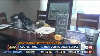 Couple tying the knot during the Solar Eclipse - Video