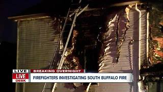Buffalo firefighters investigating overnight house fire