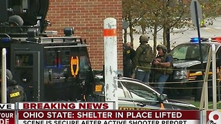 Ohio State shooting: Student says people poured out of buildings after shelter-in-place lifted - Video