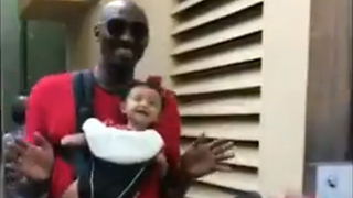 Kobe Bryant Dances with New Baby at Disneyland - Video