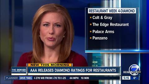 AAA releases Diamond ratings for restaurants