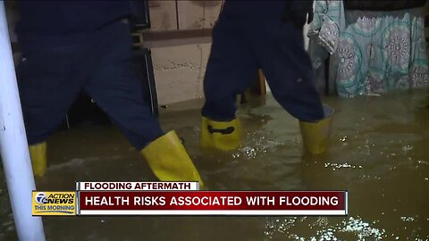 Health risks associated with flooding