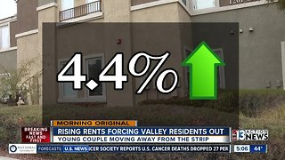 Rising rents forcing valley residents out