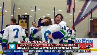 Men's club hockey is coming to Cal State Bakersfield - Video