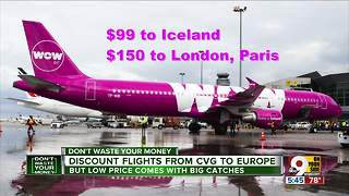 Tri-State travelers say WOW to low fares from CIncinnati to Europe - Video