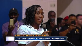 Homecoming celebration held for Coco Gauff in Delray Beach
