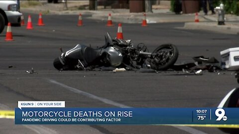 Deadly car and motorcycle crashes are on the rise