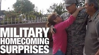Servicepeople Make Emotional Returns Home - Video