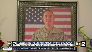 Family and friends celebrate the life of Baltimore soldier killed in Afghanistan - Video