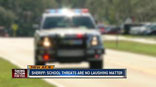 Sheriff: School threats are no laughing matter - Video