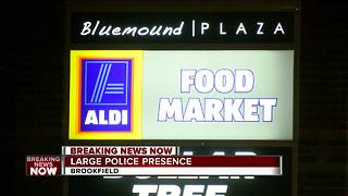Police searching for man who robbed a Brookfield Aldi Food Market - Video