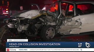 Drivers rescued after Spring Valley head-on collision
