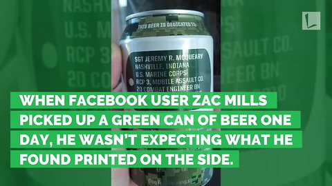 Beer Looks Just Like Any Other Can Until He Sees It Printed on Side