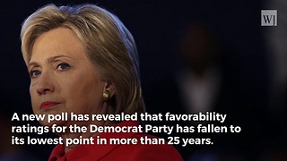 Democrat Party Suffers Lowest Favorability Ratings in 25 Years - Video