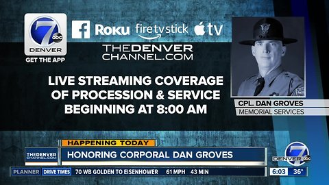 Honoring Corporal Dan Groves Thursday morning