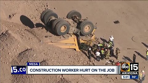Construction worker hurt on the job in Mesa