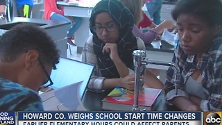 Howard County weighs school start times - Video