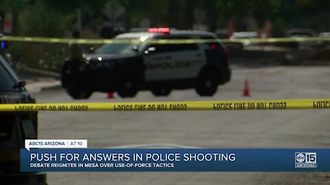 Push for answers in police shooting
