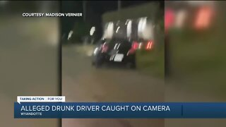 Alleged drunk driver caught on camera