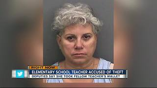 Deputies: Teacher stole credit card from another teacher at recess - Video