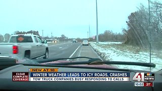 Wintry weather leads to icy roads, crashes - Video