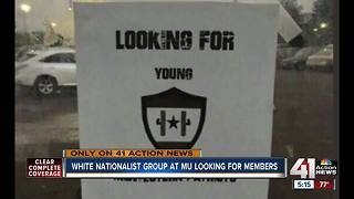 MU students find white nationalist recruiting flyers on campus - Video