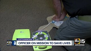 Officer on a mission to save lives