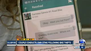 DIY bike stings: Colorado couple takes matters into their own hands after their bikes were stolen - Video