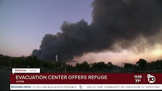 Evacuation center offers refuge from Valley Fire