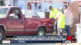 Bulky waste drop-off event held in Bakersfield - Video
