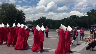 Planned Parenthood Holds Handmaid's Tale-Inspired Protest at US Capitol - Video