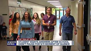 Student petition high school after no moment of silence on 9/11 - Video