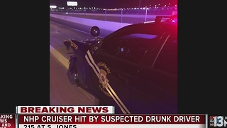 Suspected impaired driver hits Nevada Highway Patrol vehicle - Video